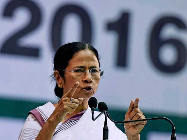 Trinamool Congress chief Mamata Banerjee addresses All India Trinamool Congress at Netaji Indoor Stadium in Kolkata on Friday, Feb 12, 2016 PTI
