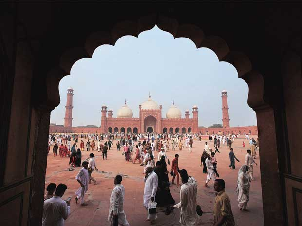 The Badshahi Mosque in Lahore