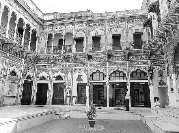 The majestic courtyard