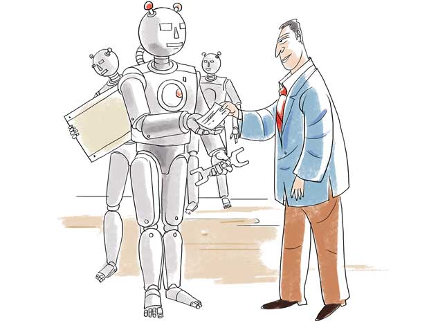 A plan in case robots take the jobs: Give everyone a paycheque