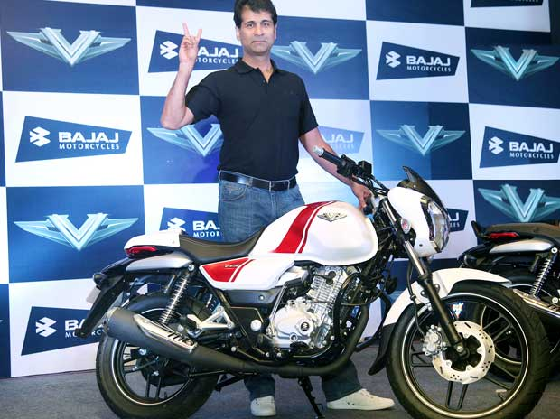 Rajiv Bajaj, MD, Bajaj Auto  at the unveiling of  V, the newly launched brand of bikes