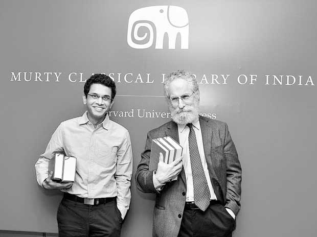 Rohan Murty (left) with Sheldon Pollock at the launch of the Murty Classical Library