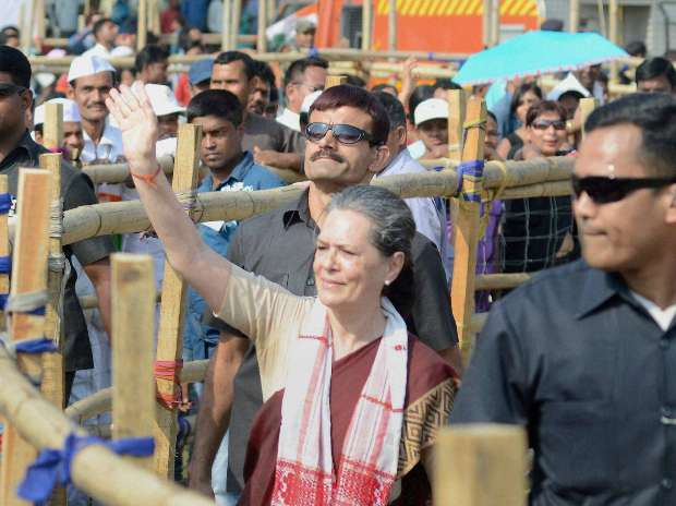 Centre toppling elected governments in greed for power: Sonia Gandhi