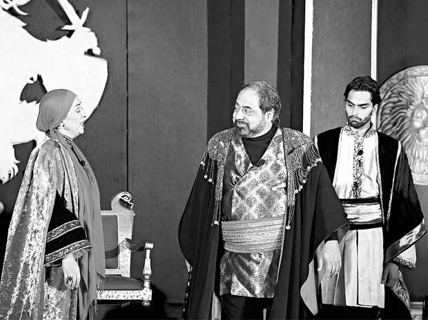 Virat Husain and Aamir Raza Husain in the play The Lion  in Winter