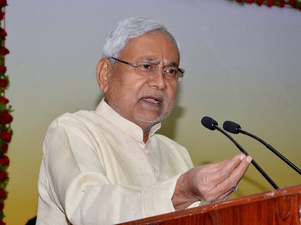 Bihar Chief Minister Nitish Kumar addressing Civil Services Day function at CM secretariat in Patna