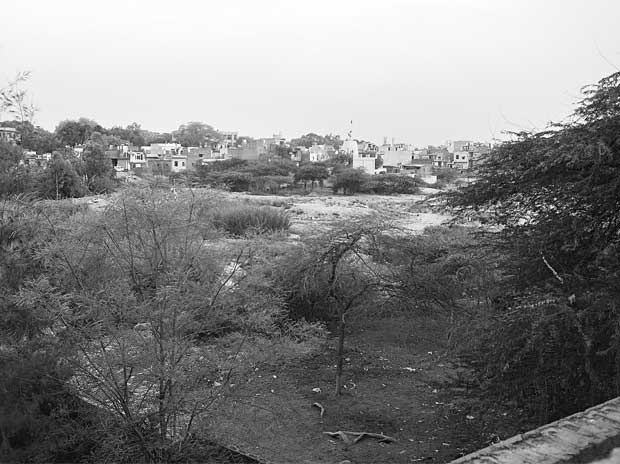 The site of the supposed pond in which Dronacharya would bathe
