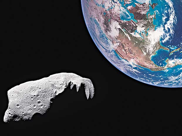 Generic image of an asteroid near Earth's orbit
