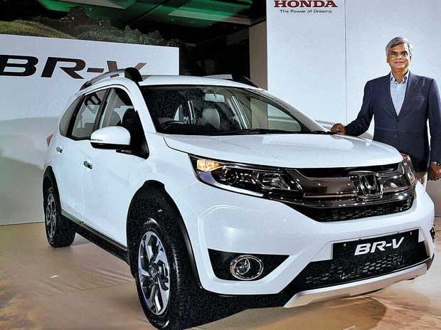 Jnaneswar Sen, senior vice-president, (sales and marketing) Honda Cars India,  at the launch of new Honda BR-V in Chennai on Monday. It is priced between ~8.75 to 12.9 lakh (ex-showroom Delhi)