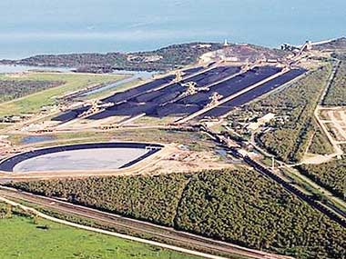 Aerial view of Carmichael coal mining project