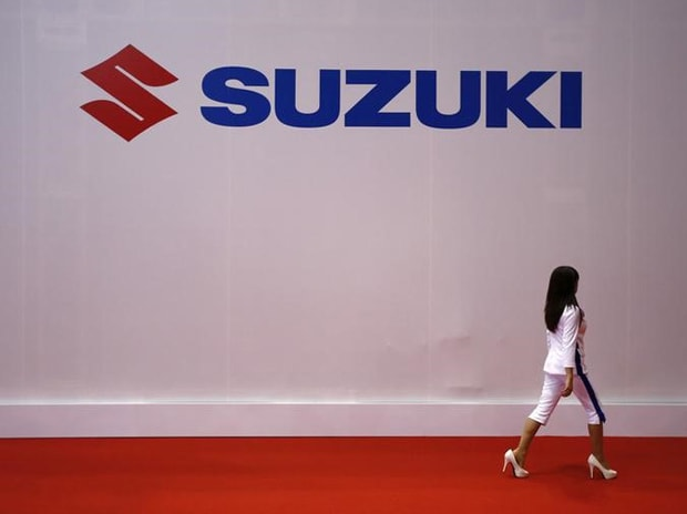 The logo of Suzuki Motors is displayed at the 44th Tokyo Motor Show in Tokyo. Photo: Reuters