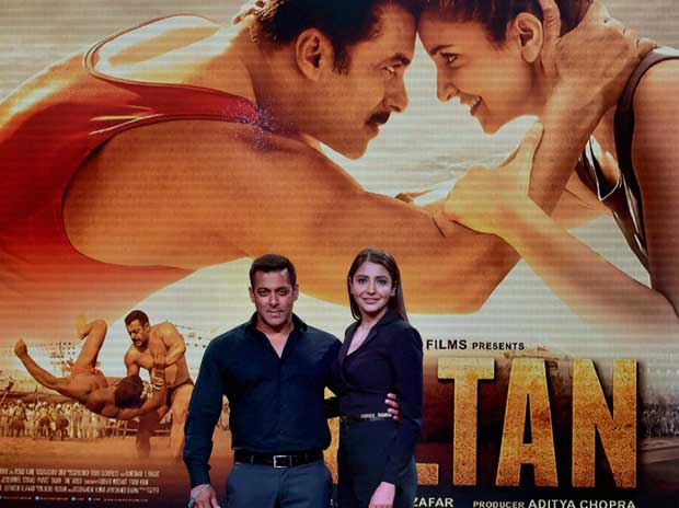Salman Khan and Anushka Sharma at the trailor launch of their upcoming movie Sultan in Mumbai on Tuesday, May 24, 2016 PTI