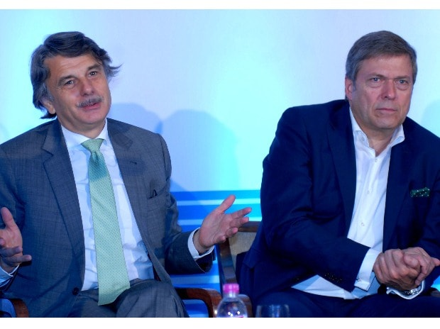 (From left to right) Ralf Speth, Global CEO Jaguar Land Rover, Guenter Butschek, CEO Tata Motors