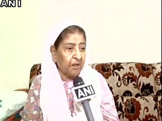 Zakia Jafri, wife of Congress MP Ehsan Jafri and one of the key petitioners in the case, reacts to the verdict. Photo: ANI
