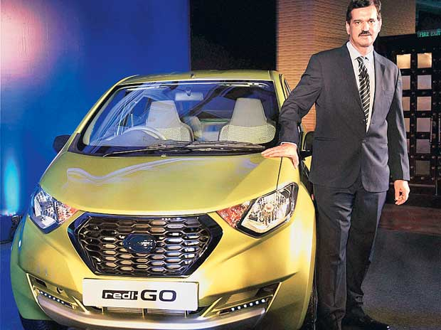 Nissan Motor India Managing Director Arun Malhotra at the launch of Datsun's redi-GO in  New Delhi, on Tuesday
