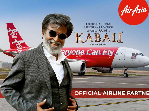 AirAsia signs deal with Rajinikanth's Kabali