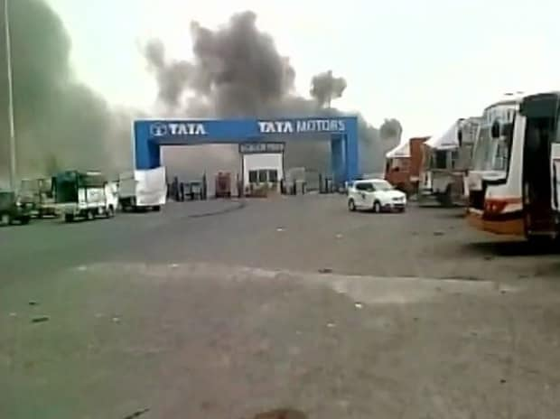 Fire breaks out at #Tata #Nano's vendor park Sanand