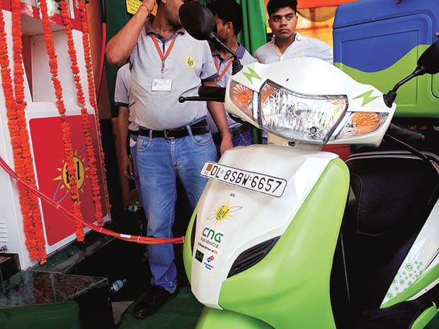 CNG retrofitted two-wheeler