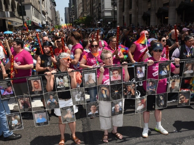 Gay Pride parade in New York. This picture was tweeted by @NYGovCuomo