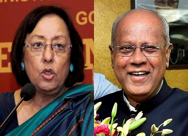File photo of Minority Affairs Minister Najma A Heptulla and MoS G M Siddeshwara who have tendered their resignations in New Delhi.