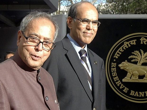 File photo: Former RBI governor Duvvuri Subbarao with Pranab Mukherjee
