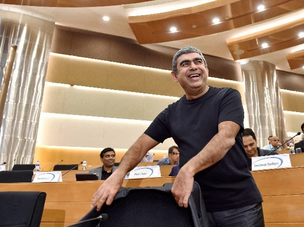 Infosys CEO Vishal Sikka during a press ...