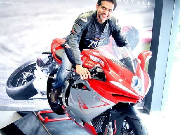 Ajinkya Firodia, managing director, MV Agusta India inaugurating the second Motoroyale showroom in India at Ahmedabad (Pic: Yasin D)