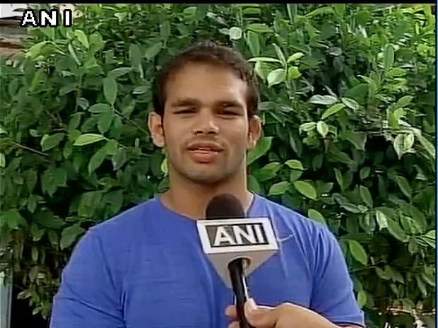 Wrestler Narsingh Yadav. Photo: ANI Twitter Handle