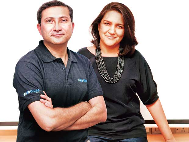 ShopClues CEO & Co-founder Sanjay Sethi (left) and Co-founder & Chief Business Officer Radhika Aggarwal