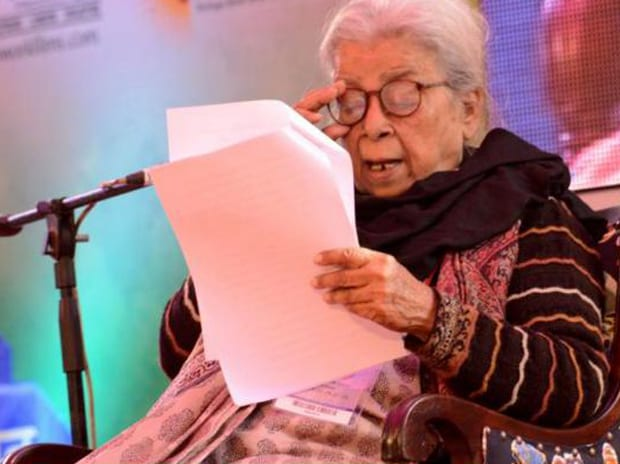 Mahasweta Devi. Photo: All India Radio News' Twitter handle