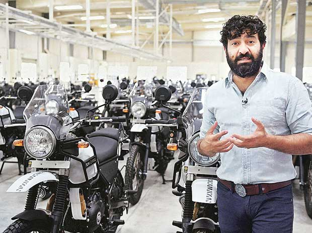 Managing Director and CEO of Eicher Motors Siddhartha Lal during his visit to the Royal Enfield's manufacturing factory at Oragadam near Chennai on Friday