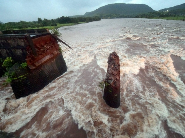 Remaining portion of Mahad-Poladpur bridge in Raigad district