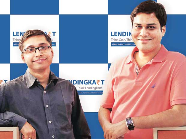 Lendingkart founders, Mukul Sachan (left) and Harshvardhan Lunia