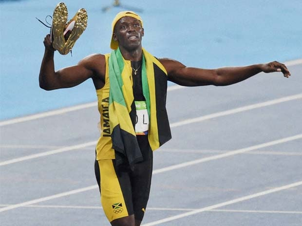 File photo of Jamica's Usain Bolt win the gold in Men's 100m in 2016 Summer Olympics at Rio de Janeiro in Brazil. Photo: AP   PTI