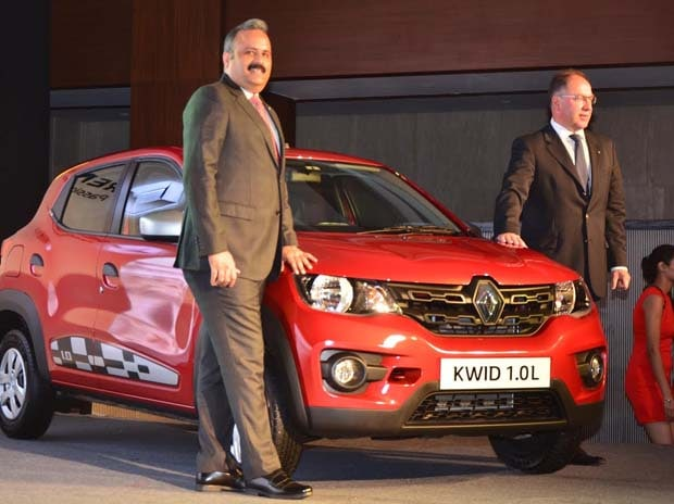 Sumit Sawhney, country CEO and MD Renault India Operations and Rafael Treguer, VP Sales and Marketing Renault India at the launch of Kwid. File Photo: Sanjay Sharma