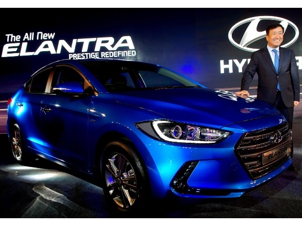 Y.K .Koo M.D & CEO Hyundai Motors India Ltd. at the Launch of Hyundai 'All New Elantra'  Photo courtesy:  Dalip Kumar