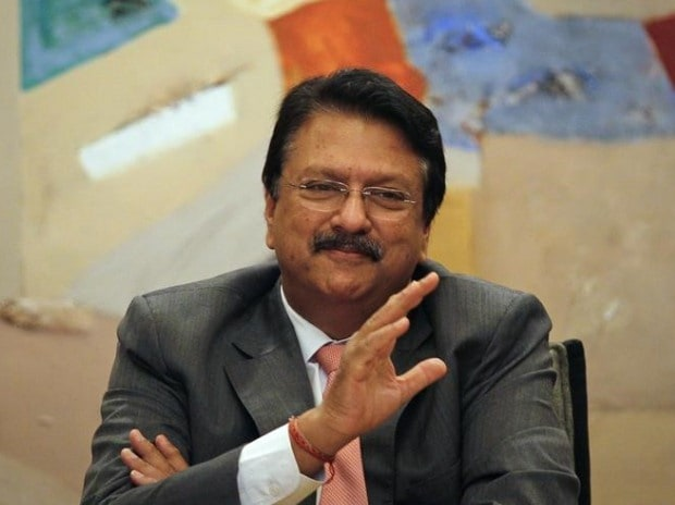 Chairman of Piramal Healthcare Ltd. Ajay Piramal gestures as he speaks during a news conference in Mumbai