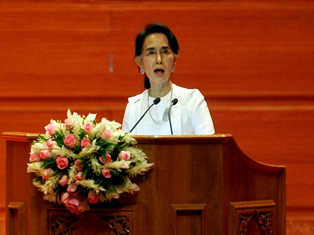 Myanmar's State Counselor and Foreign Minister Aung San Suu Kyi. File photo: PTI