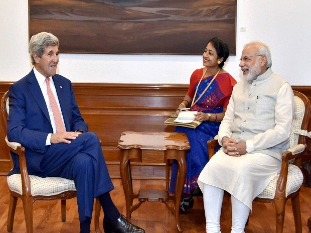 Kerry meets Modi as monsoon chaos challenges India's 'smart' future