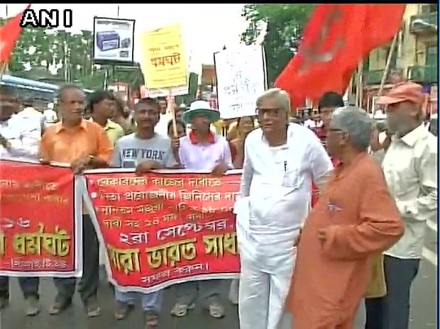 Trade union strike in West Bengal