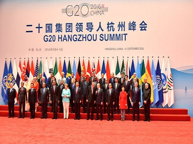 World leaders take a group photo for the G20 summit in  Hangzhou, China. Photo: Vikas Swarup Twitter Handle