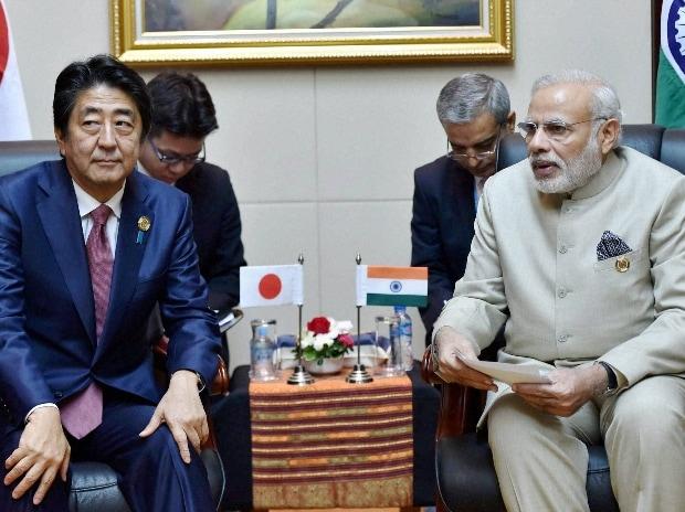 Narendra Modi with his Japanese counterpart Shinzo Abe