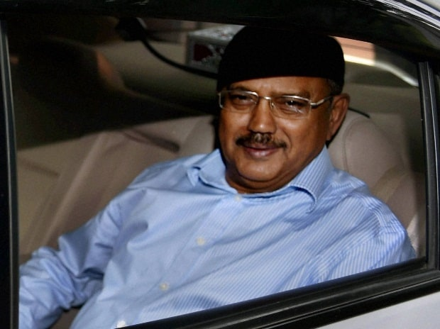 National Security Adviser Ajit Doval leaves after a meeting called by Home Minister Rajnath Singh to review the situation arising out of the terror attack in Uri, at his residence in New Delhi.