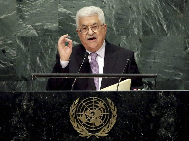 Palestinian Authority President Mahmoud Abbas addresses the 71st session of the United Nations General Assembly at UN Headquarters.