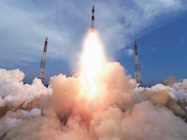 ISRO's PSLV C35 carrying SCATSAT-1 and seven other satellites, lifts off from Satish Dhawan Space Centre in Sriharikota