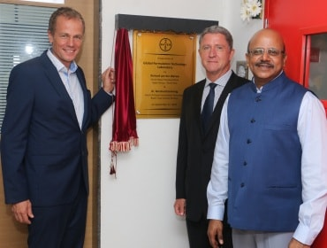 Bayer officials inaugurating the lab for crop science in Vapi
