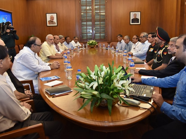 PM Narendra Modi chairs Cabinet Committee on Security (CCS) meeting (Image source: ANI)