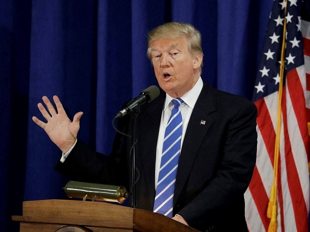 Republican presidential candidate Donald Trump speaks at the Polish National Alliance. Photo:AP|PTI