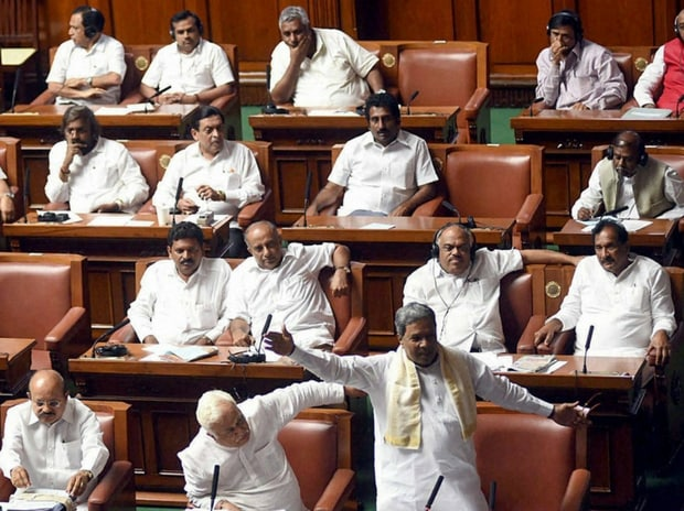 Karnataka Chief Minister Siddaramaiah during Special Assembly session on Cauvery issue at Vidhan Soudha in Bengaluru. (Photo: PTI)