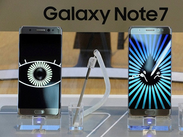 Samsung Electronics Galaxy Note 7 smartphones are displayed at its shop in Seoul, South Korea. AP | PTI