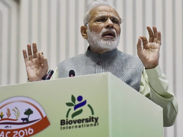 Prime Minister Narendra Modi speaks at the inaugural ceremony of 1st International Agrobiodiversity Congress 2016 in New Delhi